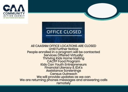 Final CAASNM Offices Closed Flyer